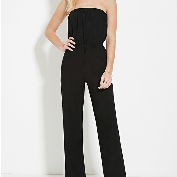 8bbfa71d8c6 Forever 21 Pants - Forever 21 Black Tube Top Jumpsuit